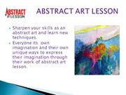 Abstract Painting Lesson