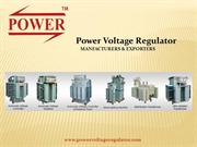Automatic Voltage Stabilizer manufacturers in India