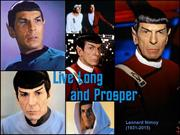Remembering Mr. Spock (Leonard Nimoy, 1931-2015) of Star Trek