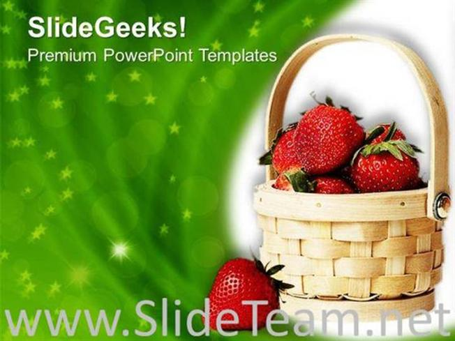 healthy fruits for good nutrition powerpoint template powerpoint