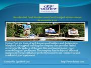 Residential Pool Builders and Pool Design at Reasonable Cost