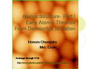 Atomic structure and early atomic theori