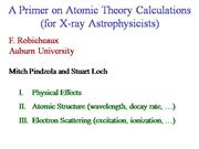 Atomic Theory Calculation