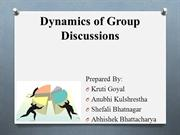 Dynamics of Group Discussions