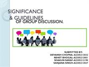 Methodology and Guidelines of Group Discussion