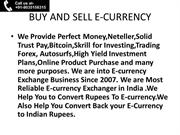 Buy and Sell Perfect Money  in india