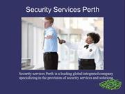 Security Services Perth | Perth Security Services