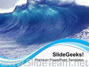 WAVES BLOWING GIVING RISE TO TIDE POWERPOINT TEMPLATE