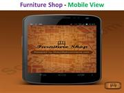 Furniture Shop - Mobile View