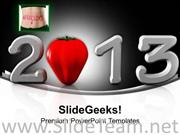WARM WELCOME OF NEW YEAR POWERPOINT TEMPLATE