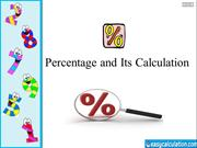 Percentage and its Calculation