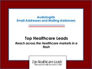Audiologist Email List