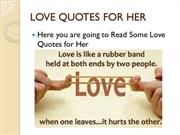 25 Romantic Love Quotes for her