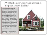 What is home warranty and how can it help you to save money