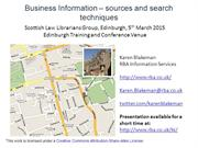 Business Information – sources and search techniques
