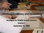 Grandview Vocab and Literacy Session 1