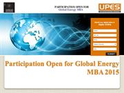 Participation Open for Global Energy MBA at UPES. Register Now!!
