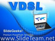 LAPTOP CONNECTED WITH VDSL POWERPOINT TEMPLATE
