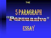 5 paragraph persuasive essay