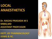 CLASS LOCAL ANAESTHETICS 3