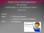 TOEFL TEST PREPARATION PLANNER