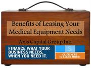 Benefits of Leasing Your Medical Equipment Needs