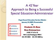 9 13 09 A 42 Year Approach for Being a Successful