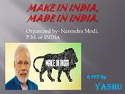 MAKE IN INDIA CAMPAIGN by-YASHU