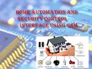 home automation and security using gsm