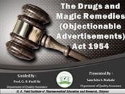 Drugs And Magic Remedies Act (Objectionable Advertisements) 1954