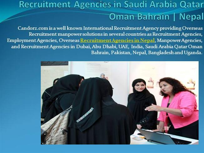 Recruitment Agencies in Saudi Arabia Qatar Oman Bahrain-Nepal