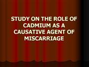 STUDY ON THE ROLE OF CADMIUM AS A 2