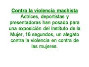 Contra la violencia machista
