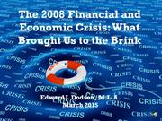 2008 financial and economic crisis - mar-narrated 2015