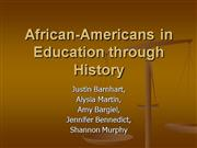 African Americans and Education