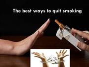The best ways to quit smoking