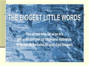 Three little big words