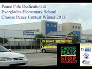 Everglades Elementary eace Pole Dedication