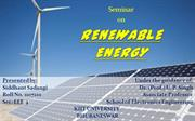 A seminar Renewable Energy sources