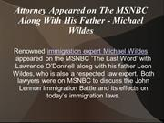 Attorney Appeared on The MSNBC Along With His Father - Michael Wildes