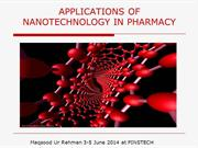 Application of Nanotechnology in Pharmacy