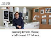Increasing Operation Efficiency with Restaurant POS Software