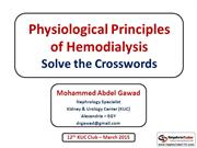 Physiological Principles of Hemodialysis - Solve The Crosswords