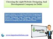 Choosing the right Website Designing and Development Company in Delhi