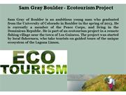 Sam Gray Boulder - Ecotourism Project