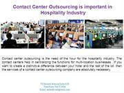 Contact Center Outsourcing is important in Hospitality Industry