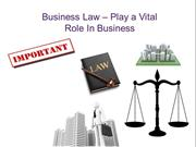 Business Law – Play a Vital Role In Business