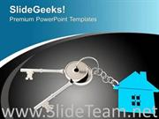 ILLUSTRATION OF HOUSE KEY SECURITY CONCEPT POWERPOINT TEMPLATE