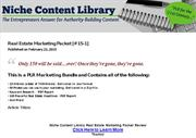 Niche Content Library Real Estate Marketing Packet Review