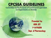 CPCSEA Guidelines